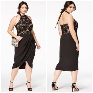 City Chic Dresses - NWT City Chic Lace Halter Draped Dress